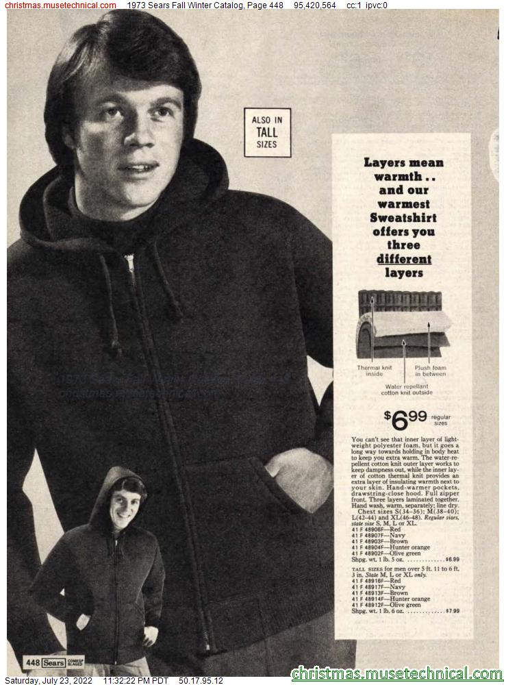 1973 Sears Fall Winter Catalog, Page 448