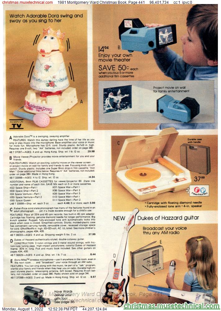 1981 Montgomery Ward Christmas Book, Page 441