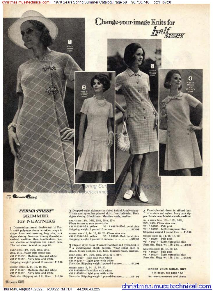 1970 Sears Spring Summer Catalog, Page 58