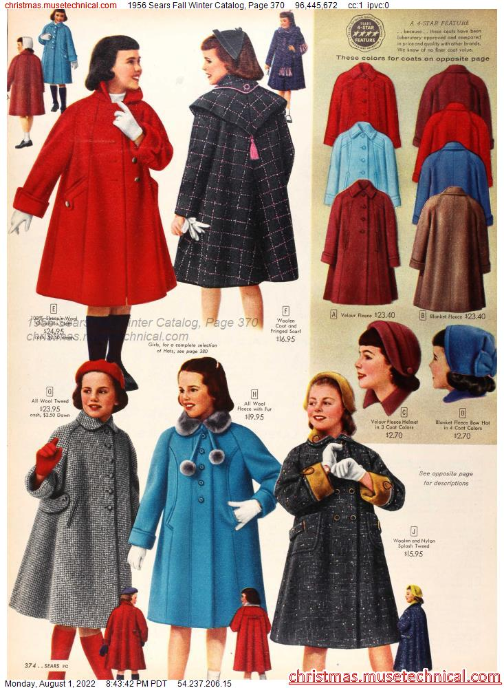 1956 Sears Fall Winter Catalog, Page 370