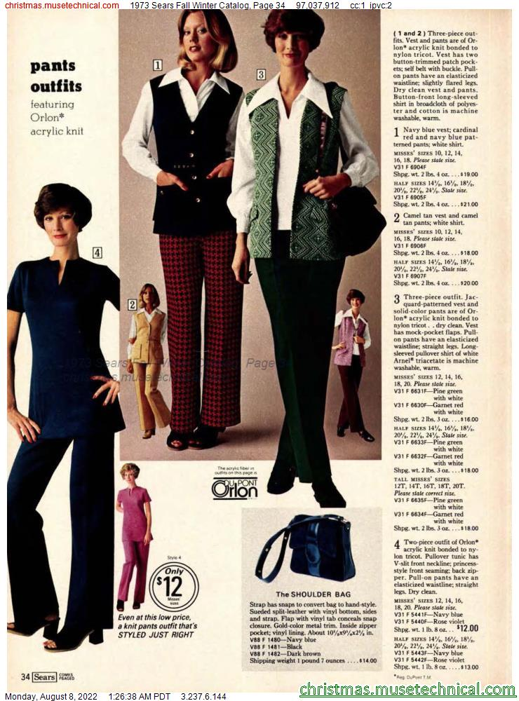 1973 Sears Fall Winter Catalog, Page 34