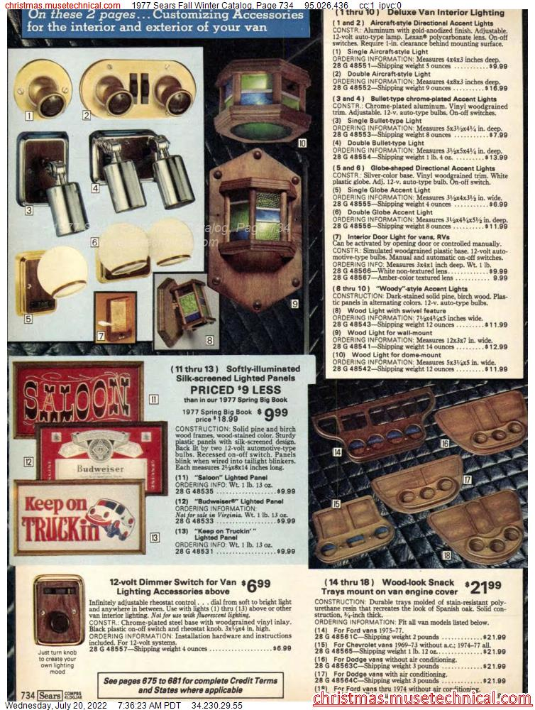 1977 Sears Fall Winter Catalog, Page 734