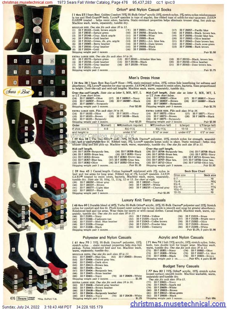 1973 Sears Fall Winter Catalog, Page 476