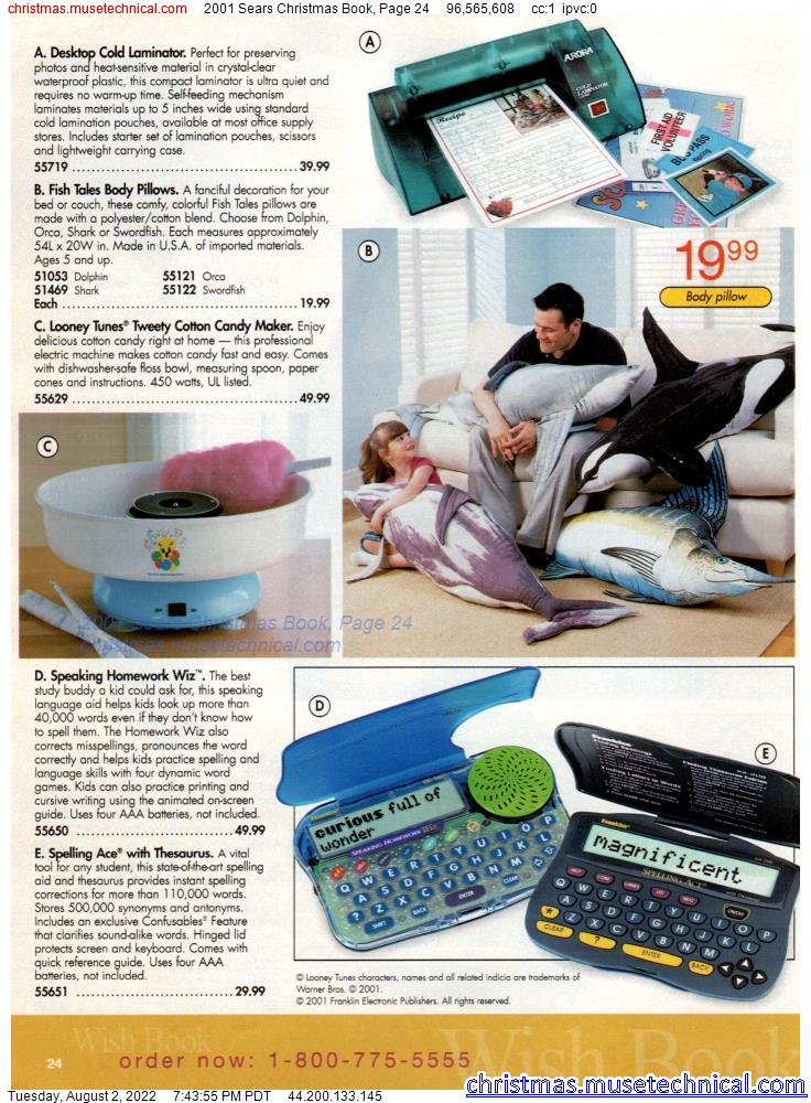2001 Sears Christmas Book, Page 24