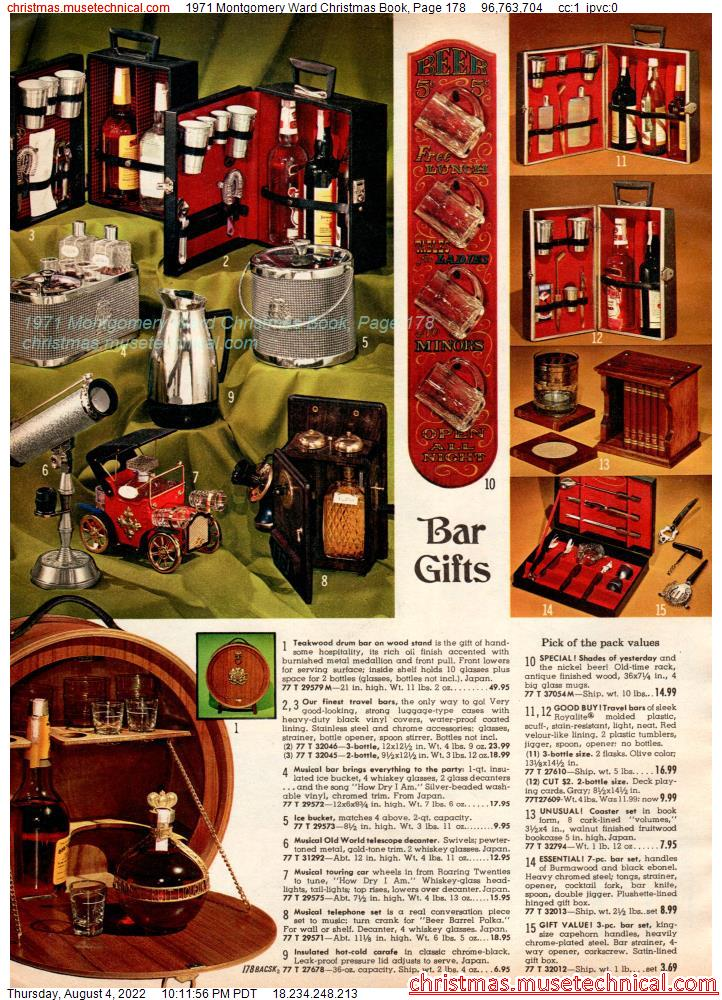 1971 Montgomery Ward Christmas Book, Page 178