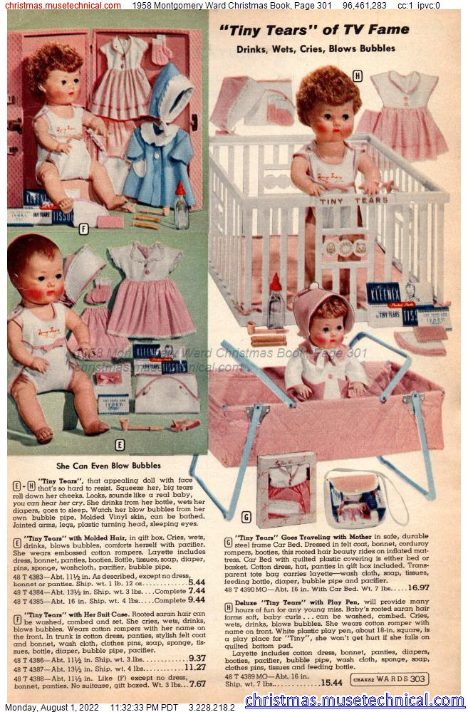 1958 Montgomery Ward Christmas Book, Page 301