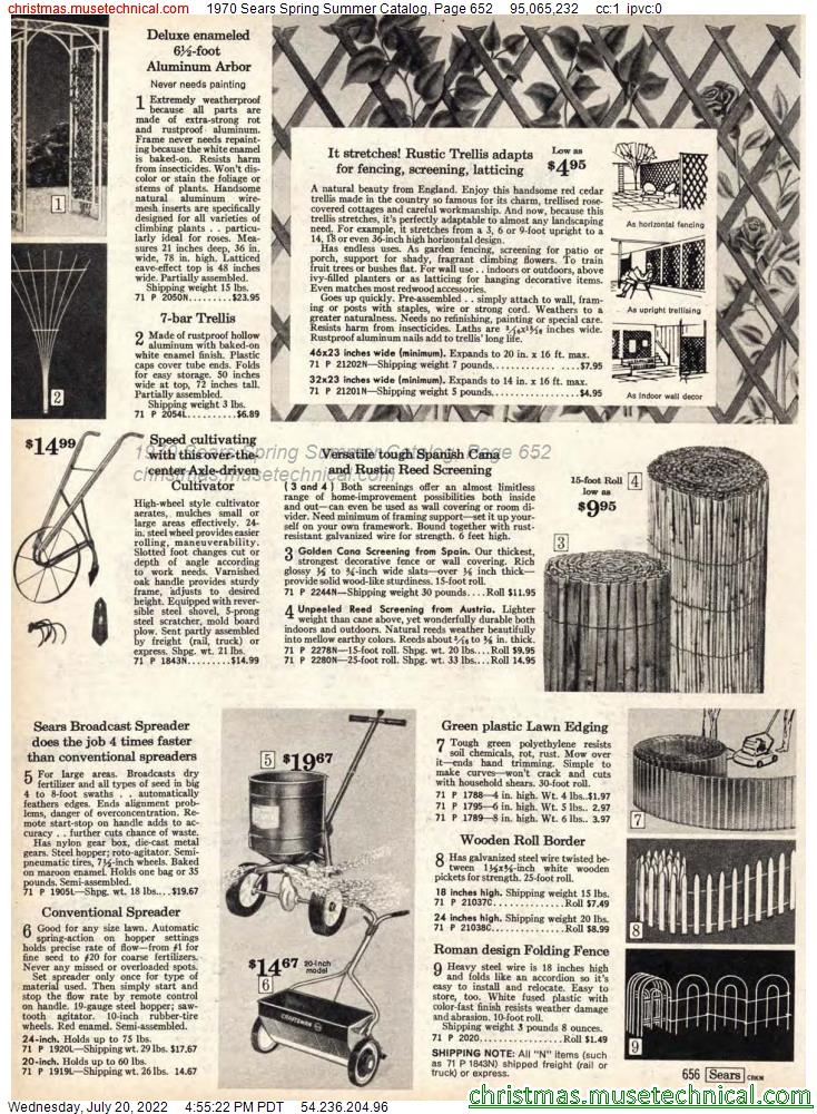 1970 Sears Spring Summer Catalog, Page 652