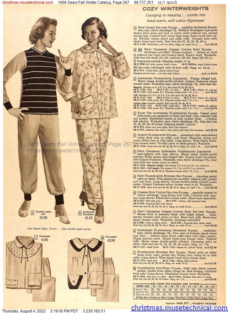 1956 Sears Fall Winter Catalog, Page 267