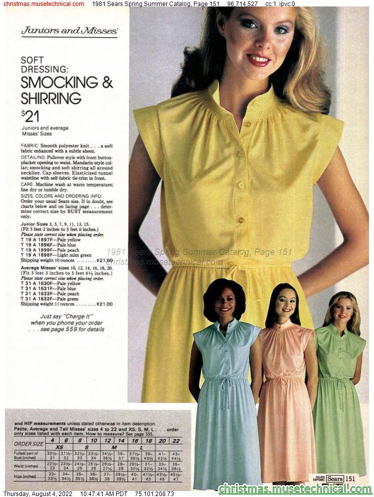 1981 Sears Spring Summer Catalog, Page 151