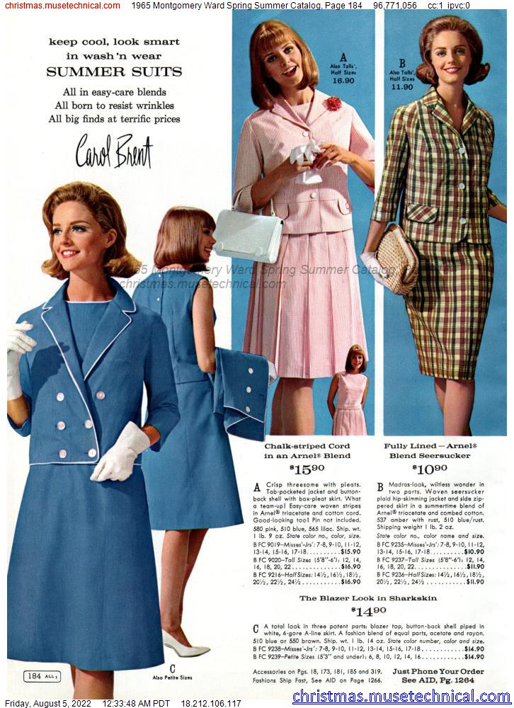 1965 Montgomery Ward Spring Summer Catalog, Page 184