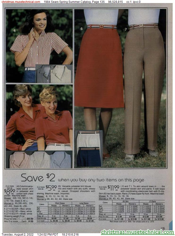 1984 Sears Spring Summer Catalog, Page 135
