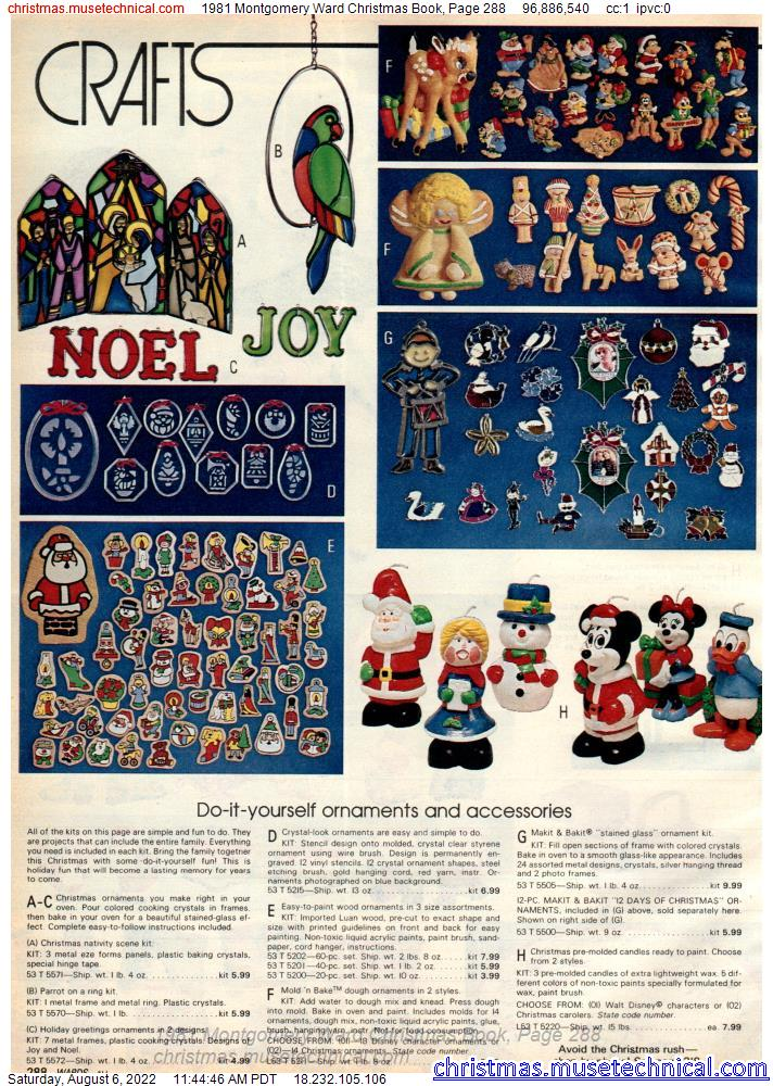 1981 Montgomery Ward Christmas Book, Page 288