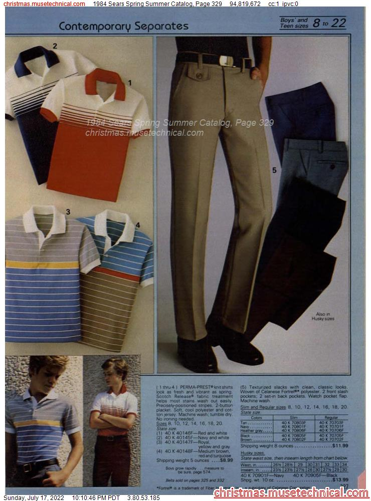 1984 Sears Spring Summer Catalog, Page 329