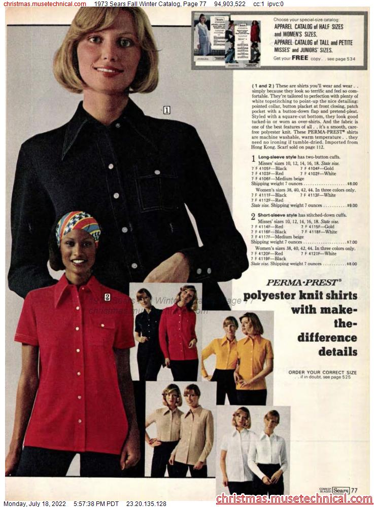 1973 Sears Fall Winter Catalog, Page 77