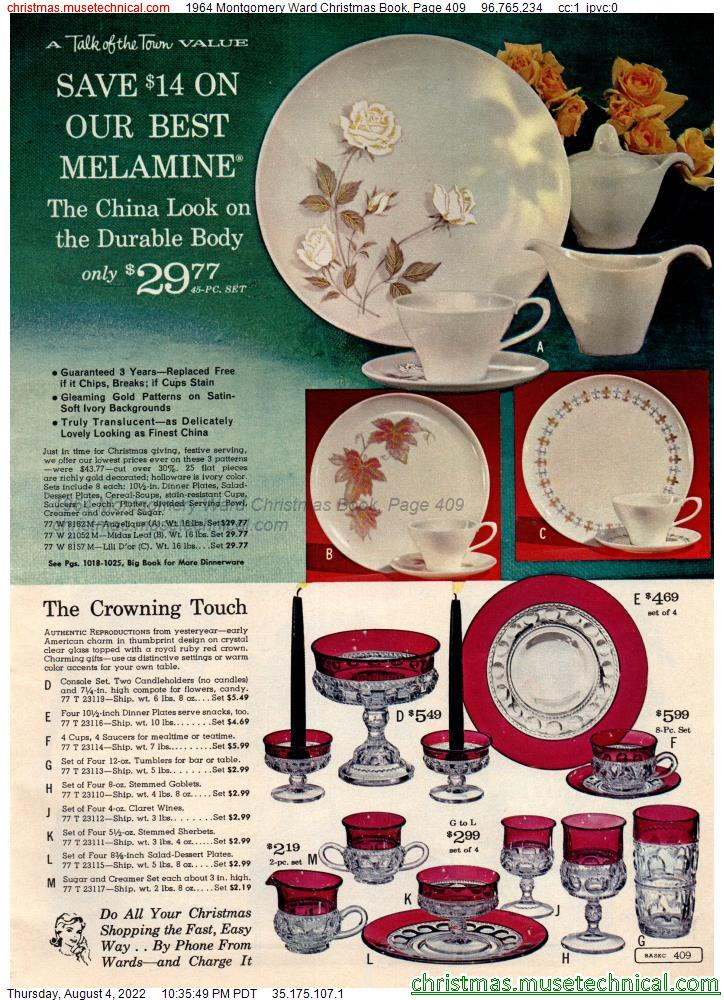 1964 Montgomery Ward Christmas Book, Page 409