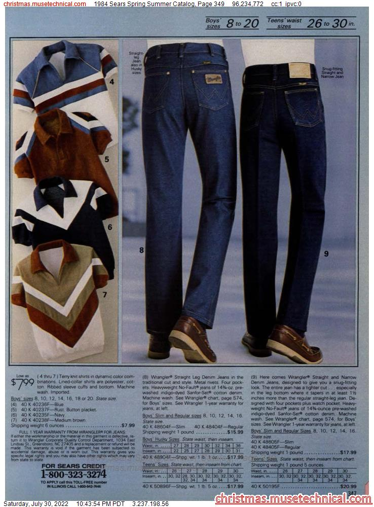 1984 Sears Spring Summer Catalog, Page 349