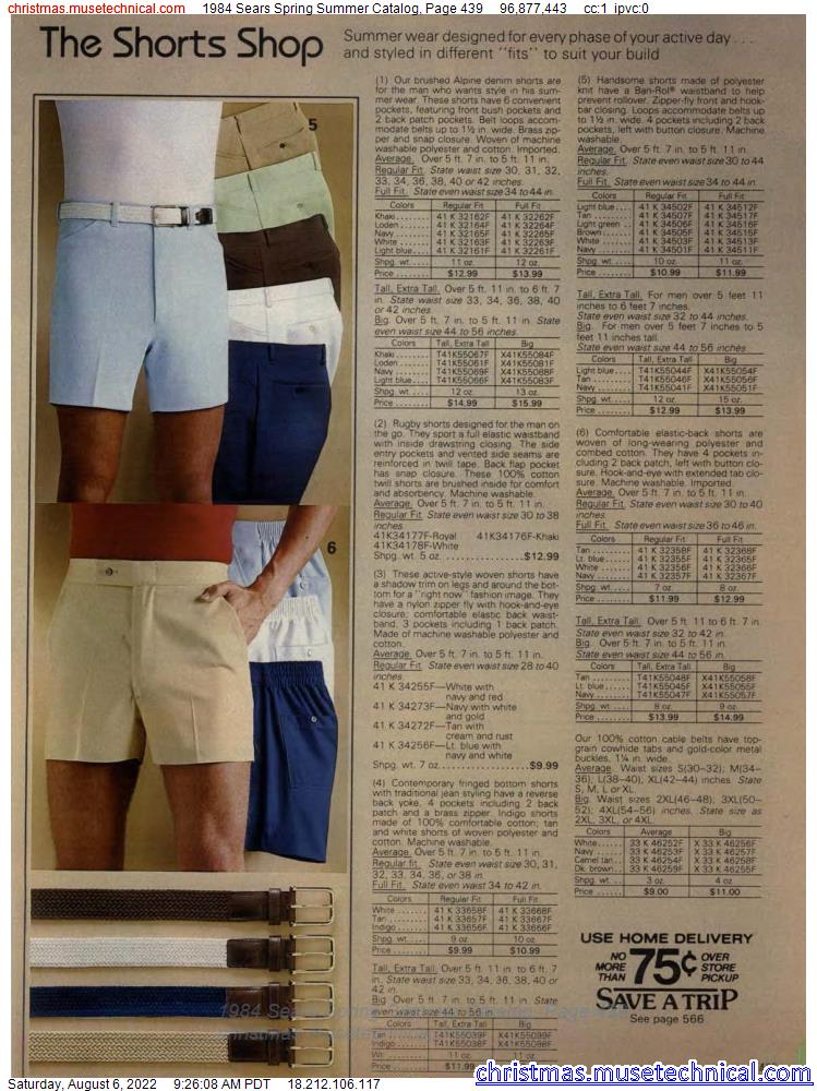 1984 Sears Spring Summer Catalog, Page 439