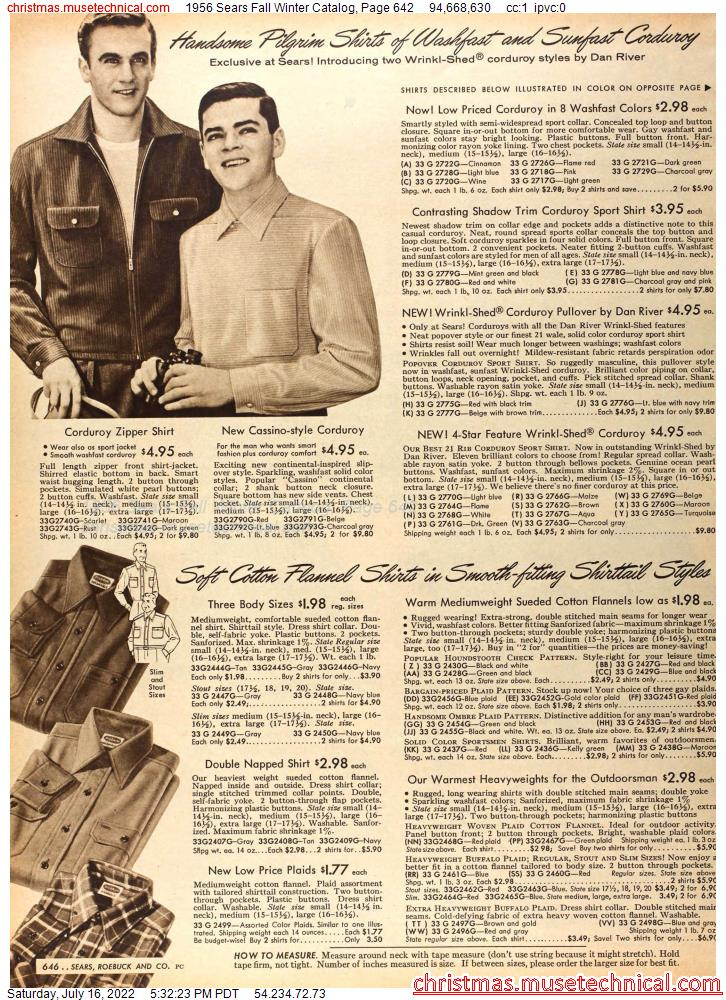1956 Sears Fall Winter Catalog, Page 642