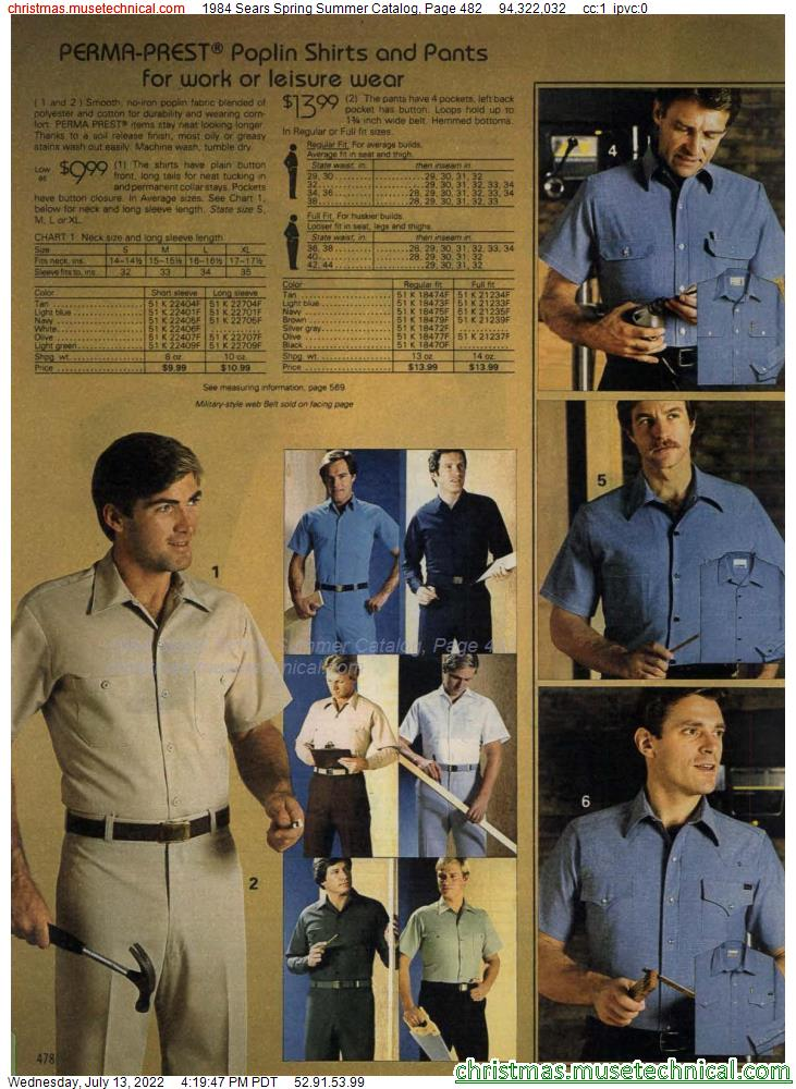 1984 Sears Spring Summer Catalog, Page 482