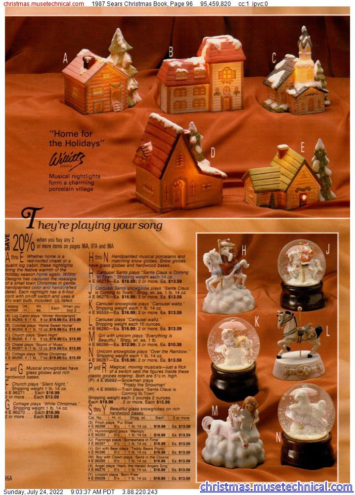 1987 Sears Christmas Book, Page 96