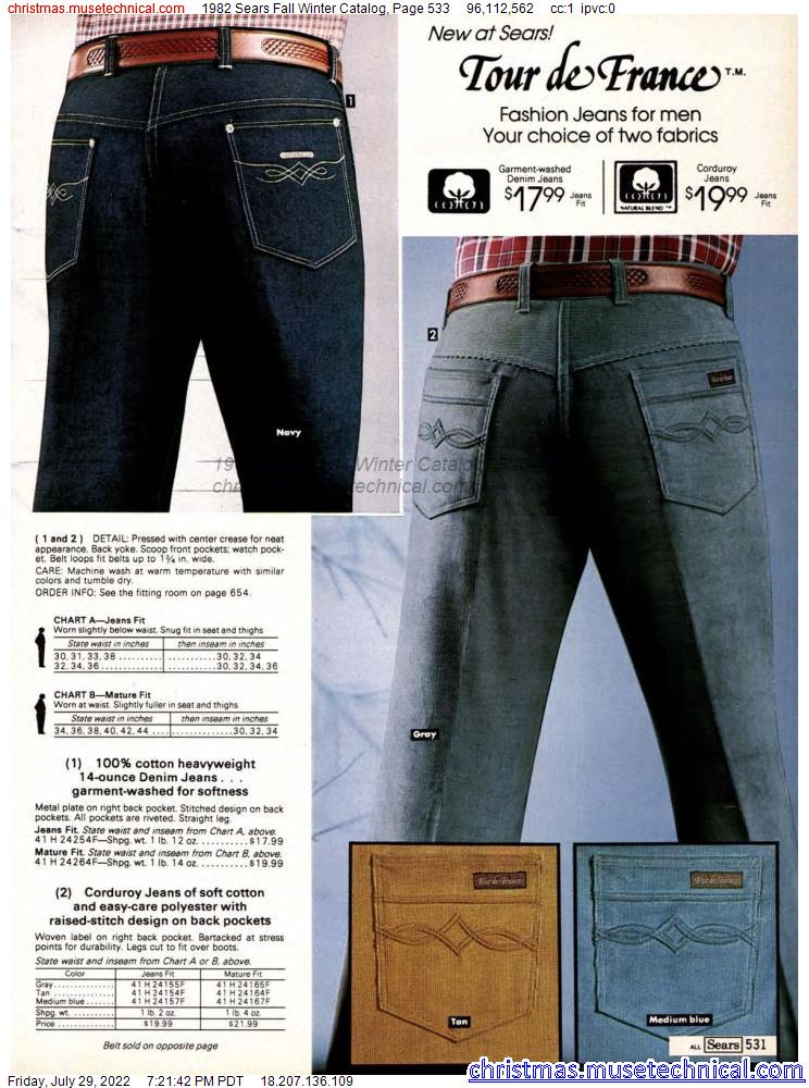 1982 Sears Fall Winter Catalog, Page 533