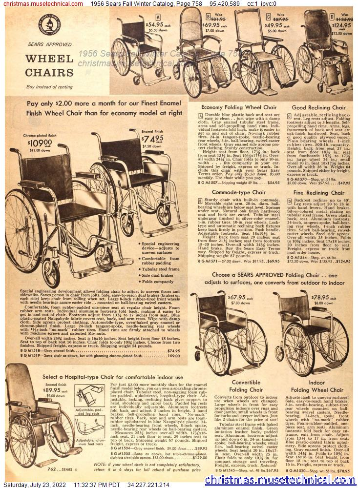 1956 Sears Fall Winter Catalog, Page 758