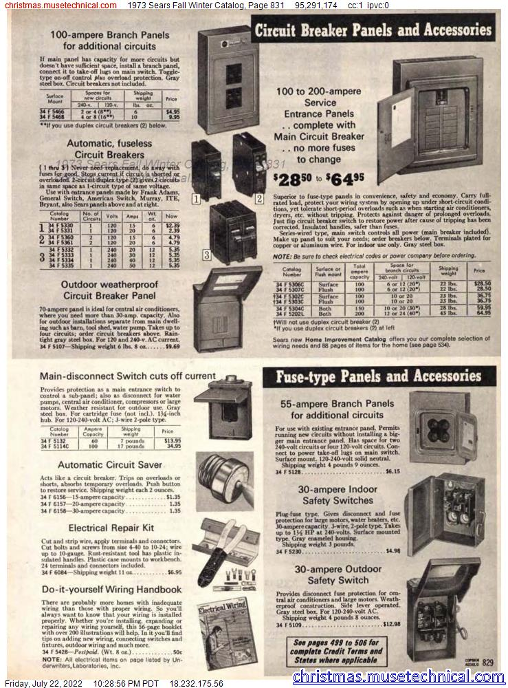 1973 Sears Fall Winter Catalog, Page 831