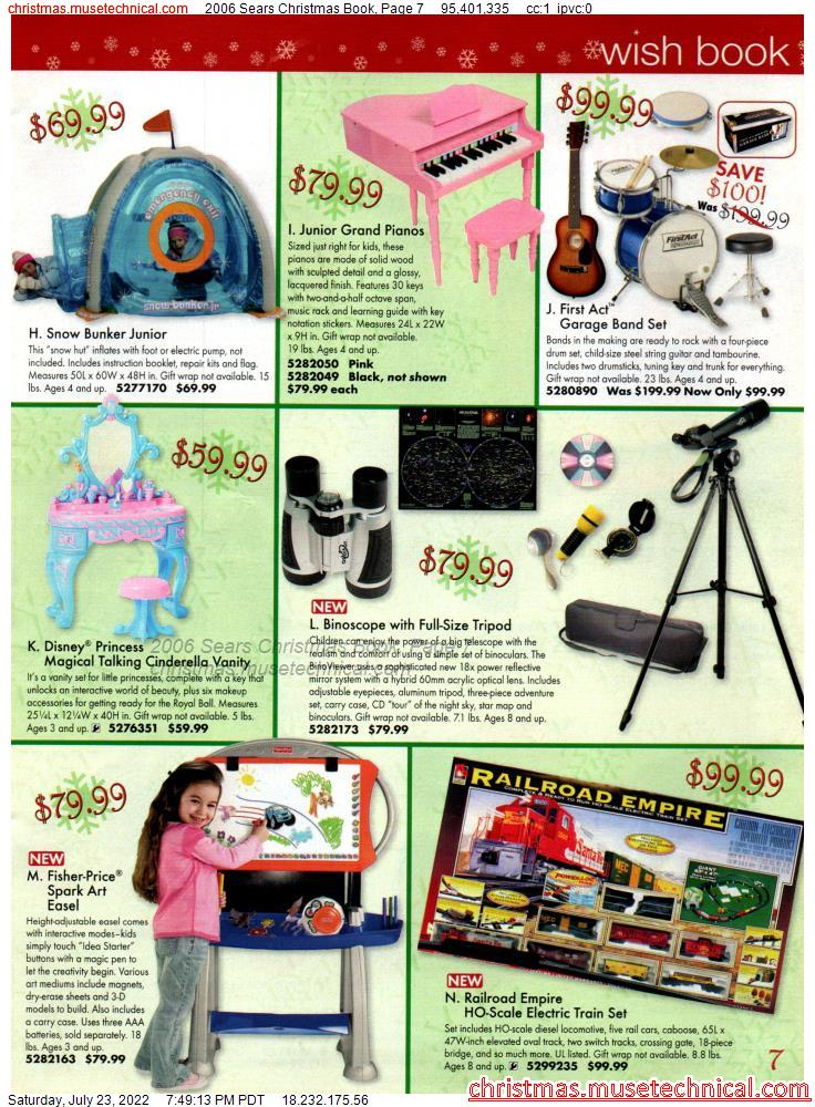 2006 Sears Christmas Book, Page 7