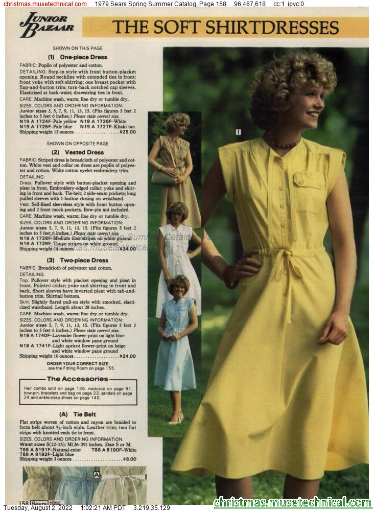 1979 Sears Spring Summer Catalog, Page 158