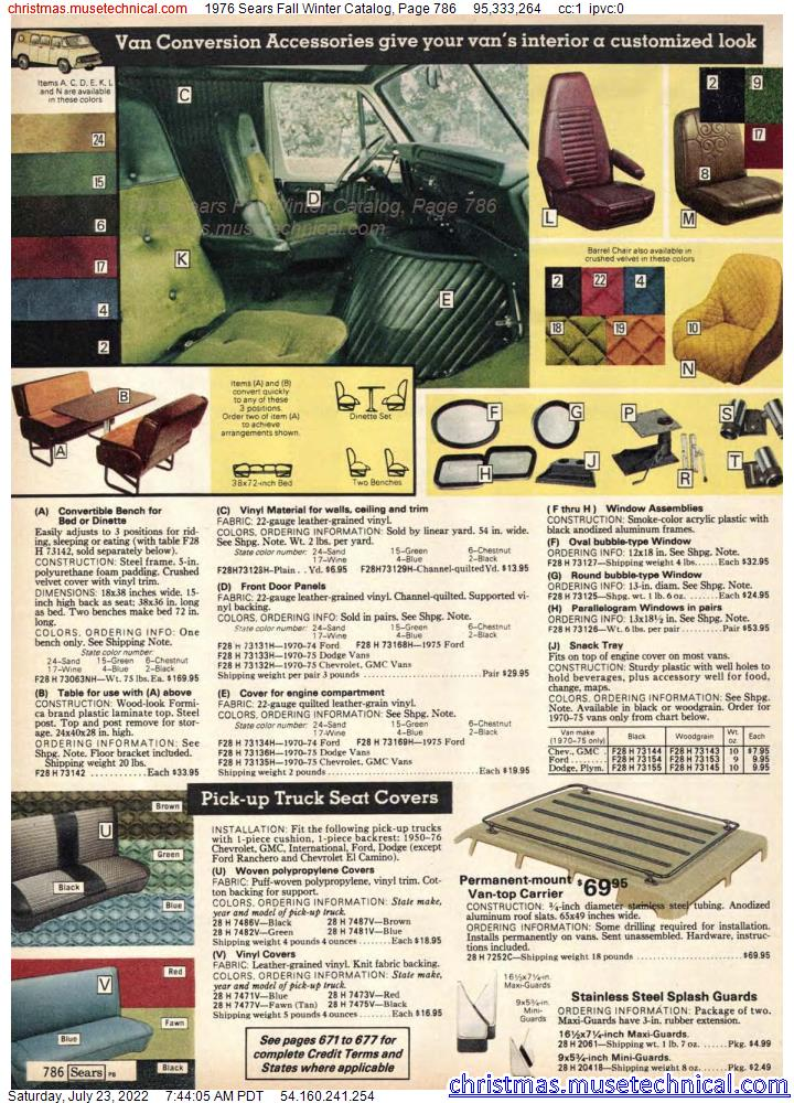 1976 Sears Fall Winter Catalog, Page 786