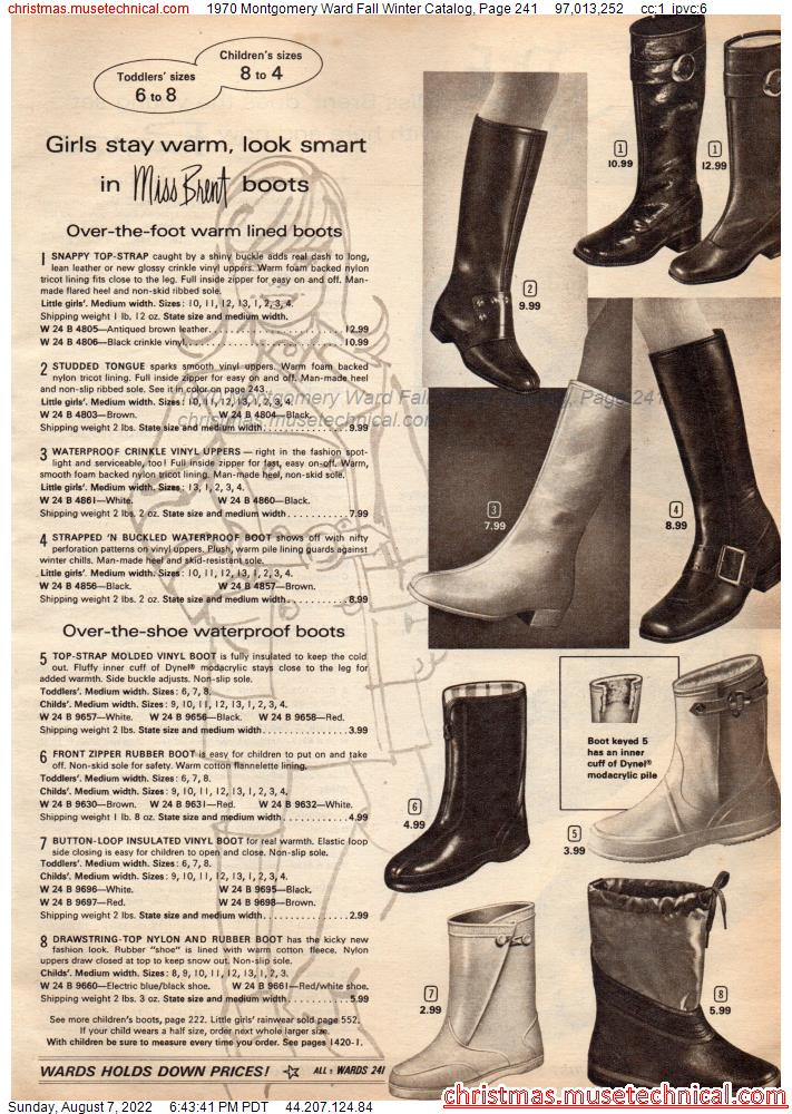 1970 Montgomery Ward Fall Winter Catalog, Page 241