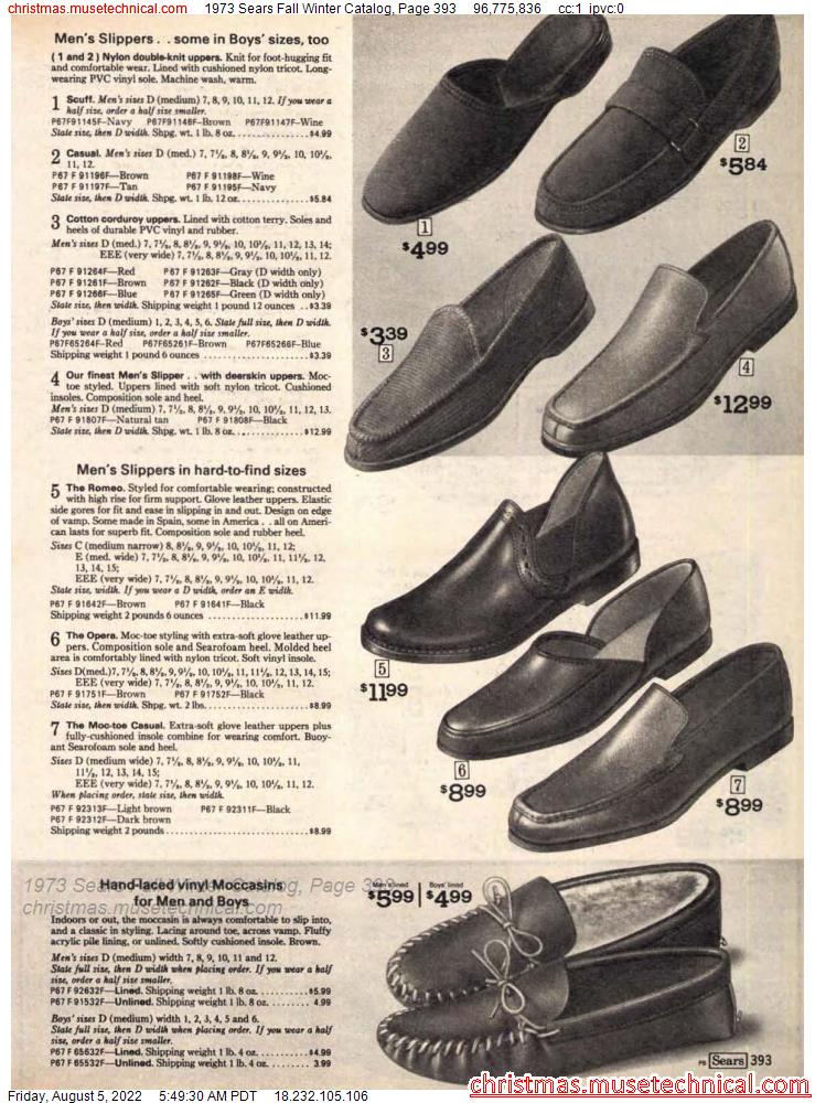 1973 Sears Fall Winter Catalog, Page 393