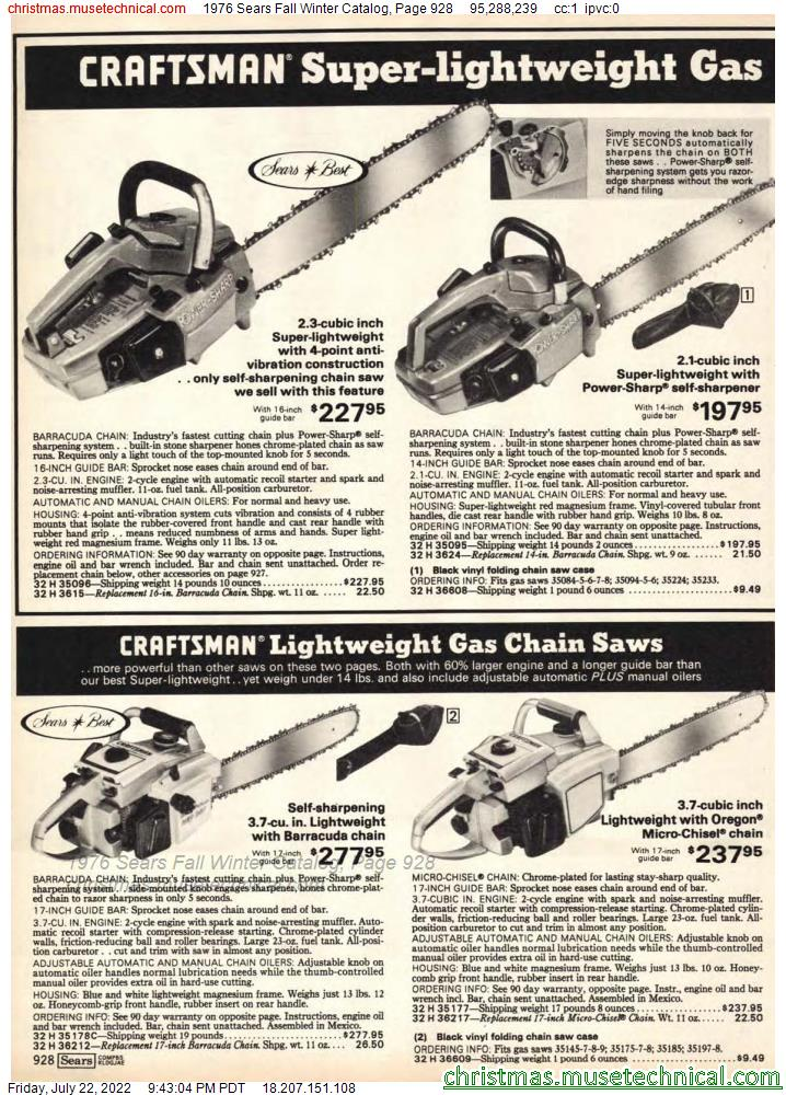 1976 Sears Fall Winter Catalog, Page 928