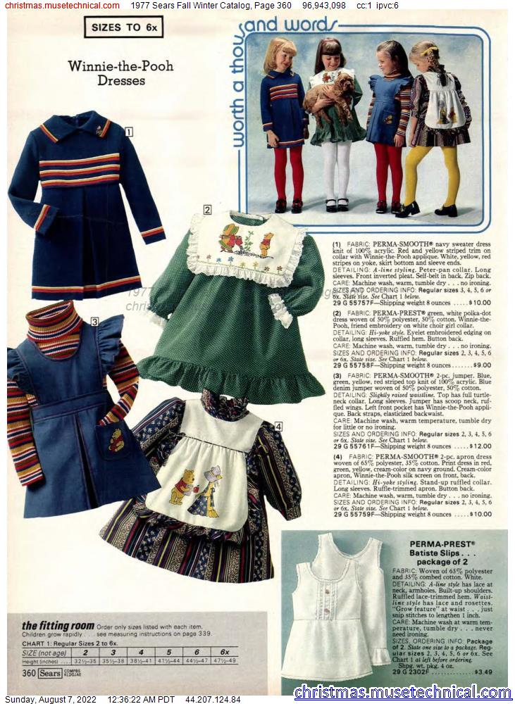 1977 Sears Fall Winter Catalog, Page 360