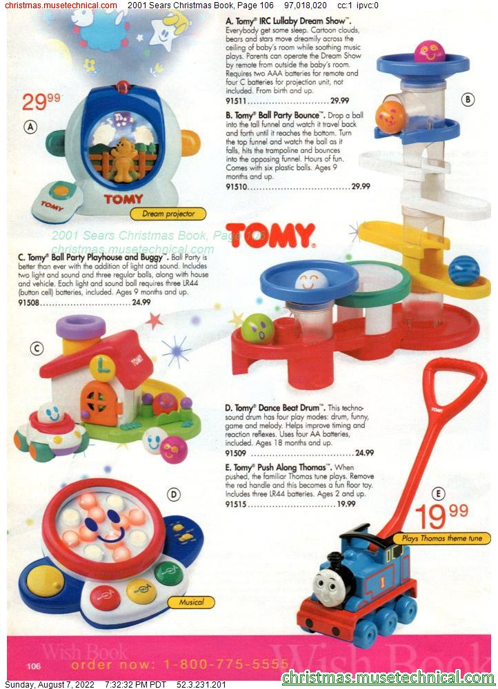 2001 Sears Christmas Book, Page 106