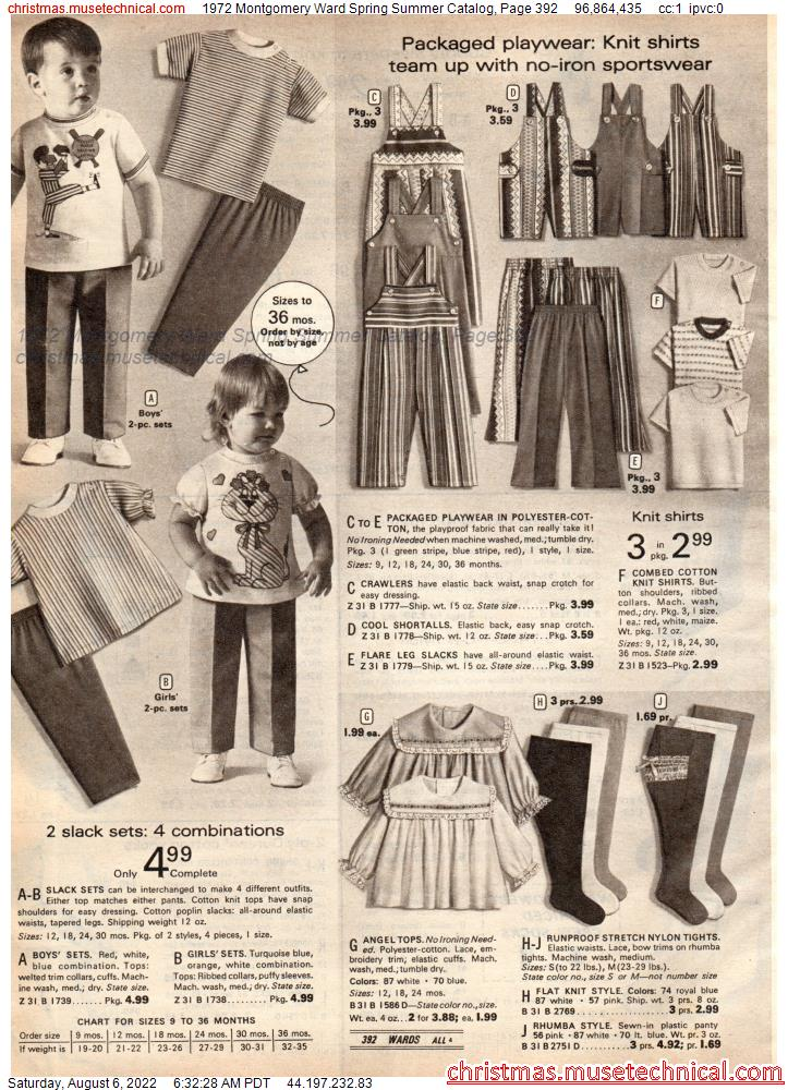 1972 Montgomery Ward Spring Summer Catalog, Page 392
