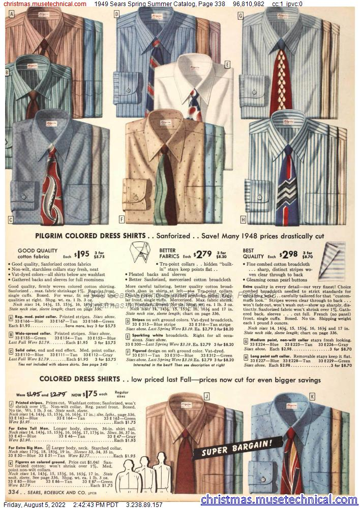 1949 Sears Spring Summer Catalog, Page 338