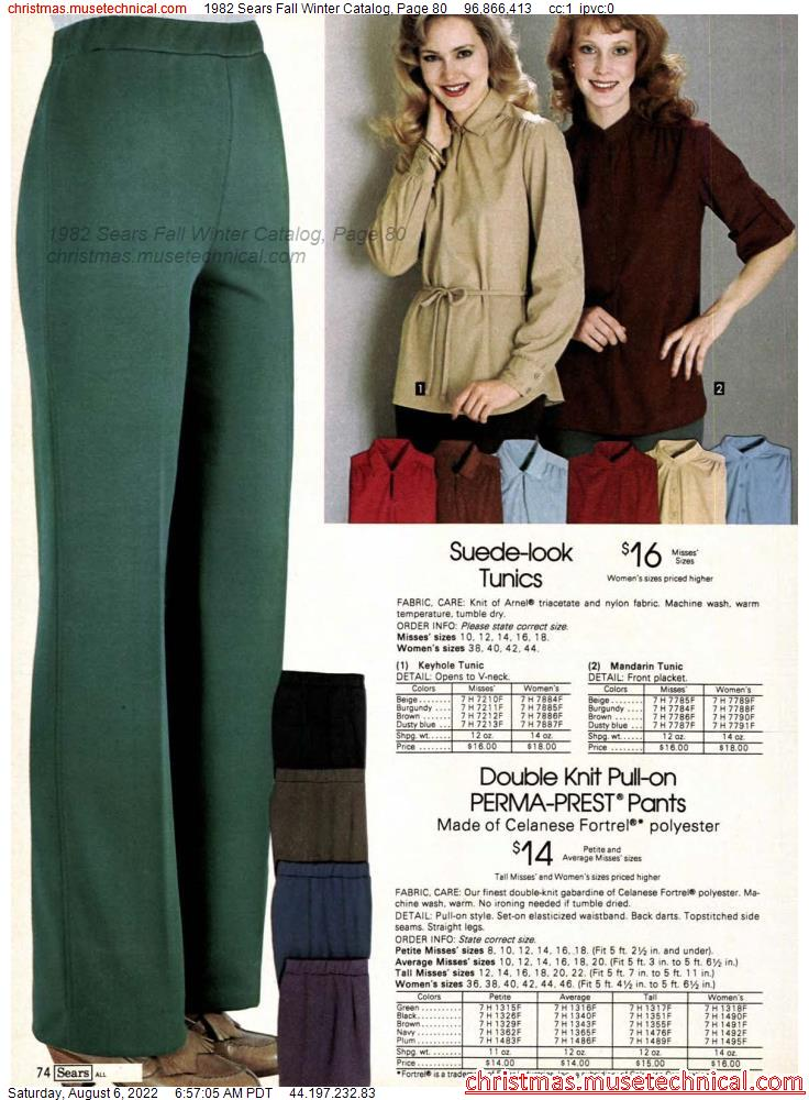 1982 Sears Fall Winter Catalog, Page 80