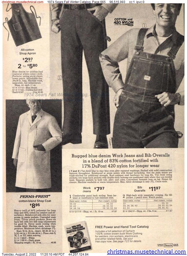 1974 Sears Fall Winter Catalog, Page 665