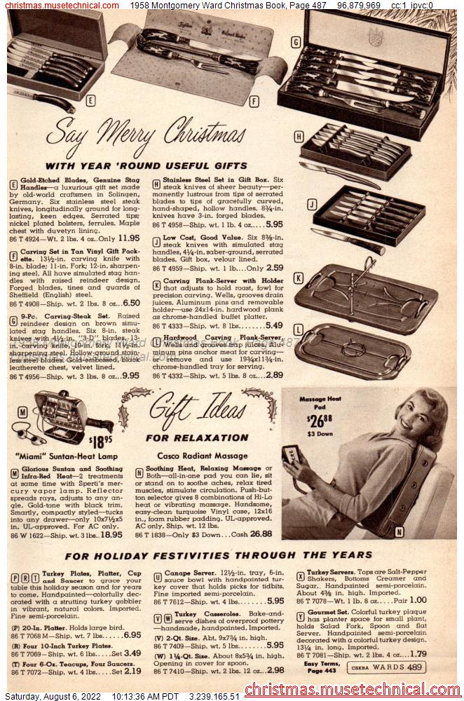 1958 Montgomery Ward Christmas Book, Page 487