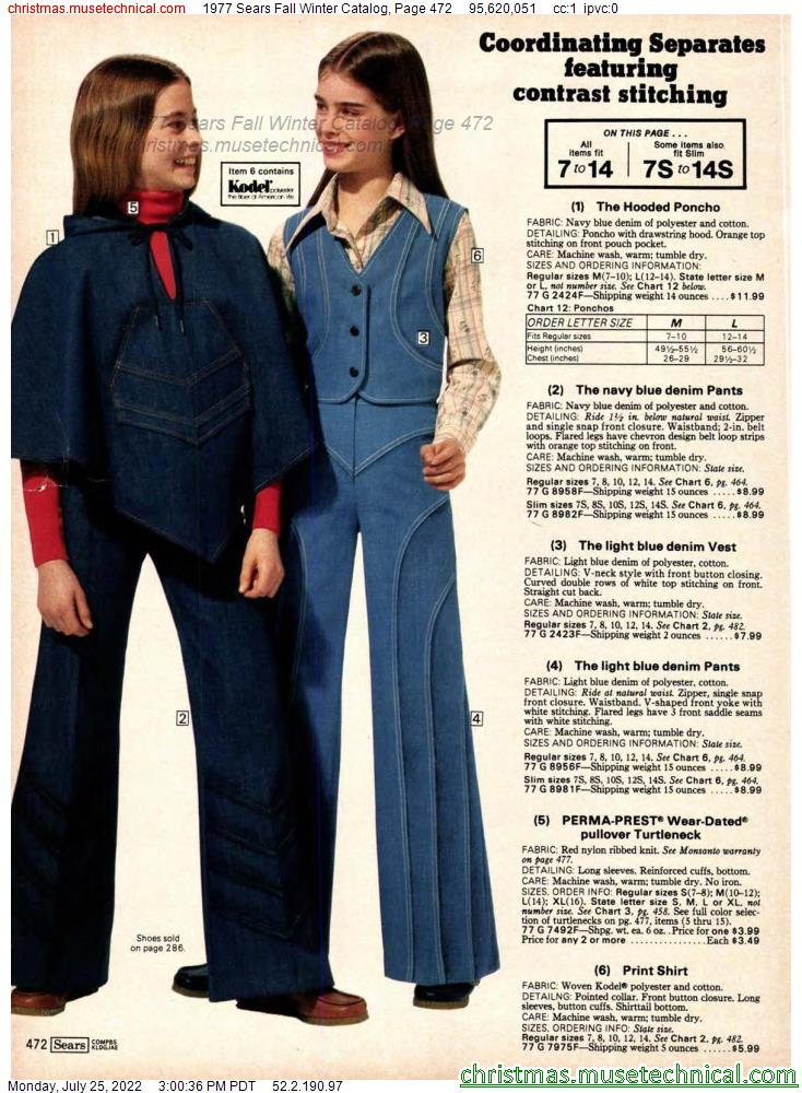 1977 Sears Fall Winter Catalog, Page 472