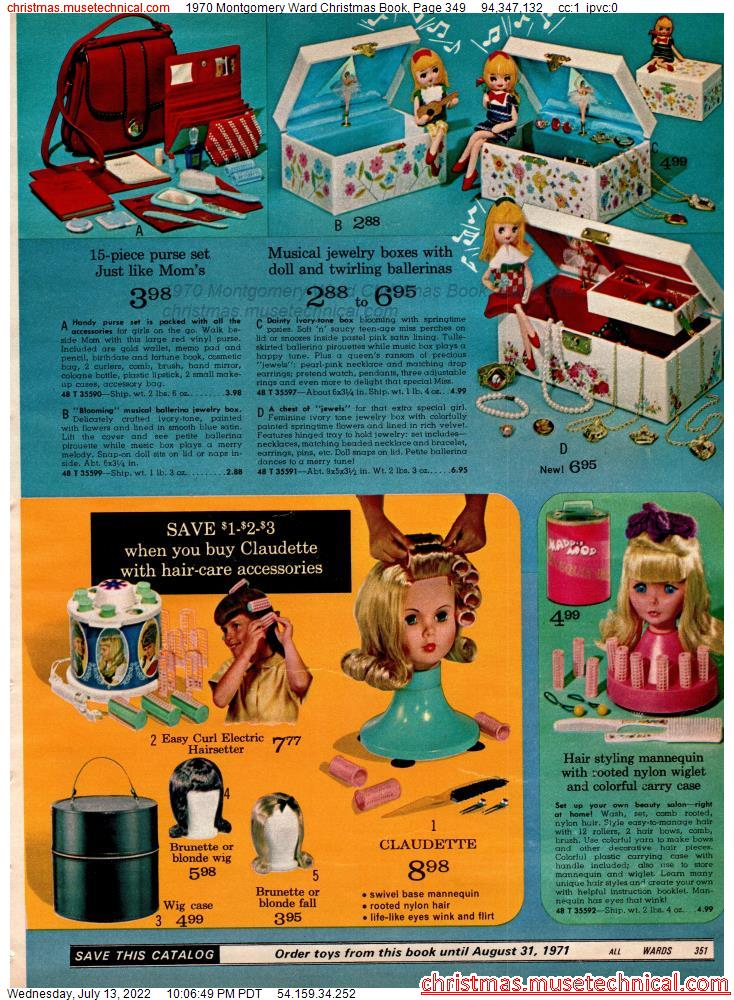 1970 Montgomery Ward Christmas Book, Page 349