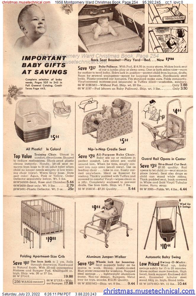 1958 Montgomery Ward Christmas Book, Page 254