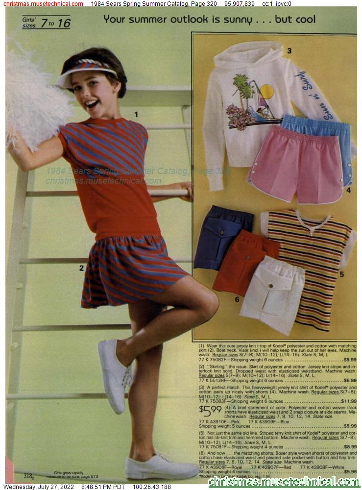 1984 Sears Spring Summer Catalog, Page 320
