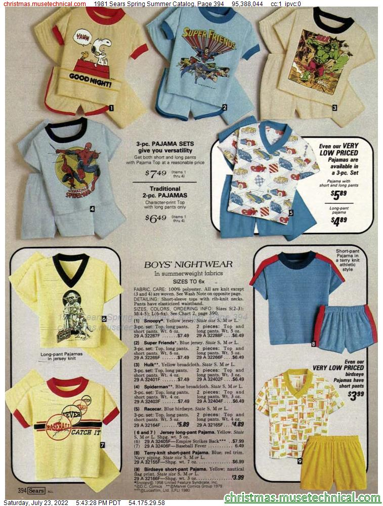 1981 Sears Spring Summer Catalog, Page 394