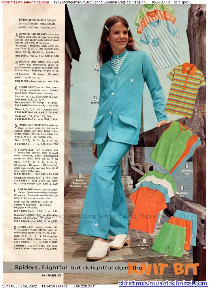 1972 Montgomery Ward Spring Summer Catalog, Page 413