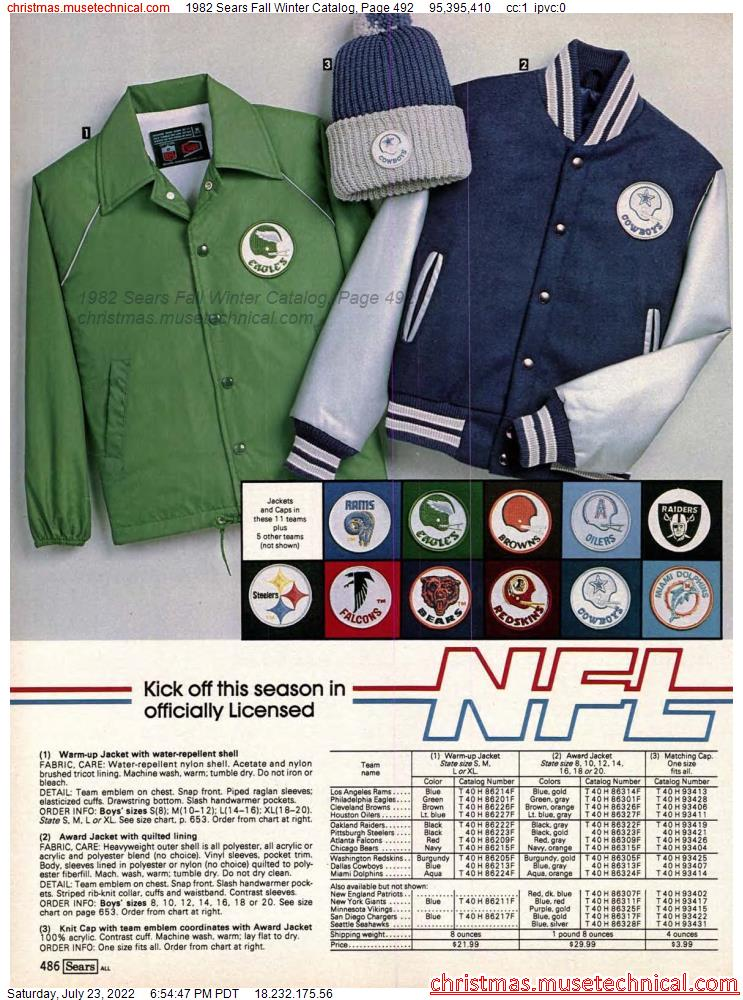 1982 Sears Fall Winter Catalog, Page 492