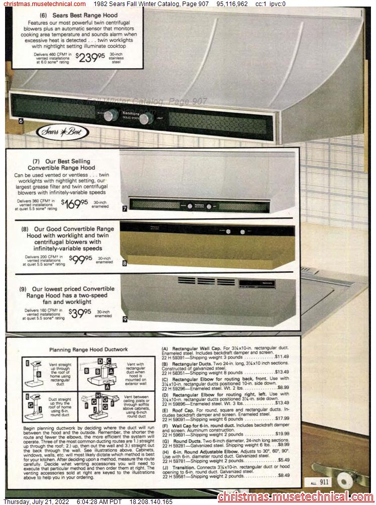 1982 Sears Fall Winter Catalog, Page 907