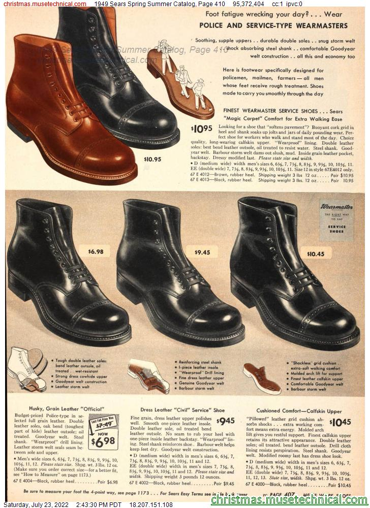 1949 Sears Spring Summer Catalog, Page 410
