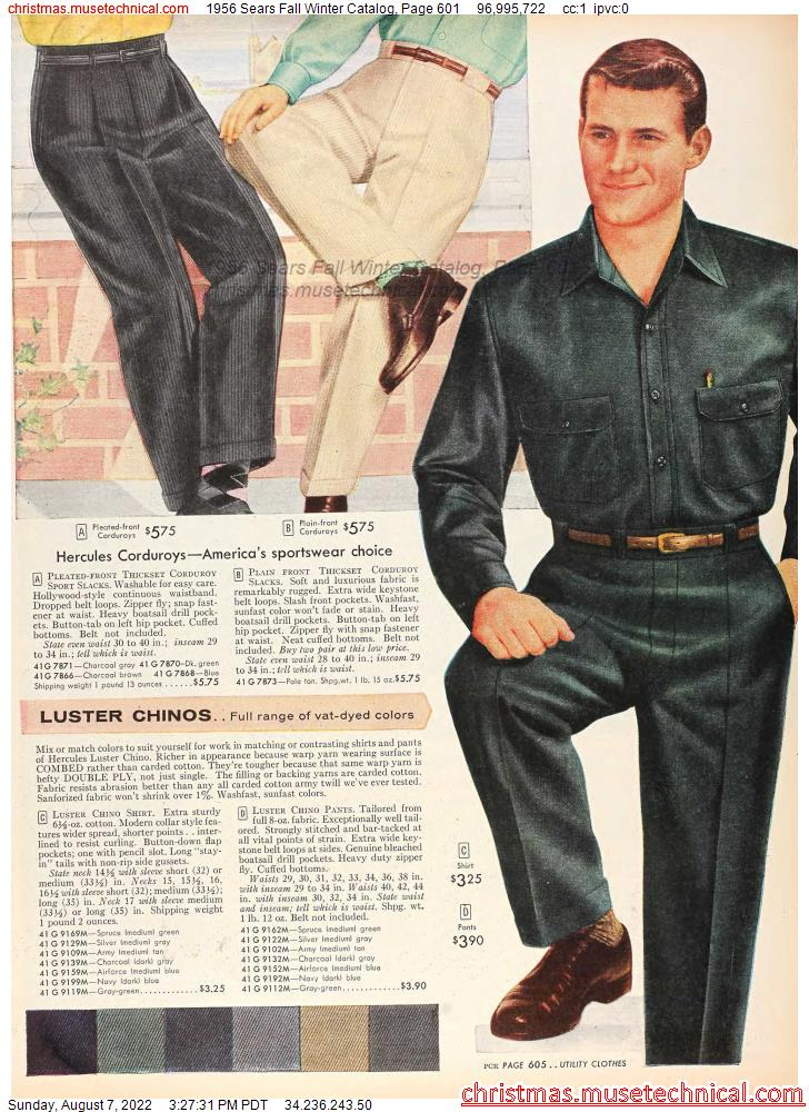 1956 Sears Fall Winter Catalog, Page 601